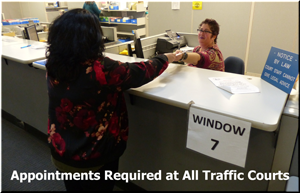 Appointments Required at All Traffic Courts